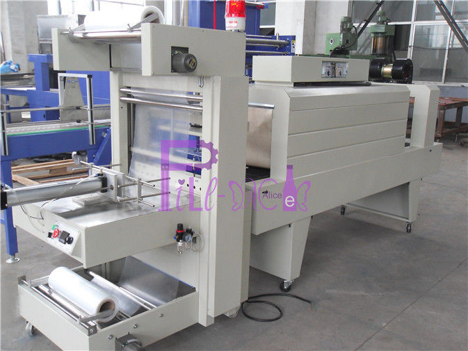 Semi Automatic Shrink Bottle Packing Machine For Small Capacity Plastic Bottle