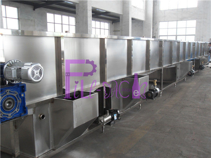 Hot Filling Drink Bottle Packing Machine Juice Cooling Sterilizer System Beverage Industry